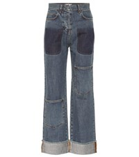 J.W.Anderson High Rise Straight Jeans Blue