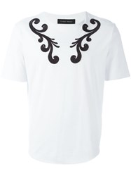 Christian Pellizzari Embroidered Detail T Shirt White