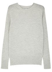 Wooyoungmi Grey Ribbed Wool Blend Jumper