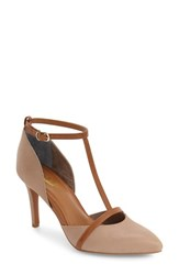 Seychelles Women's Zeal T Strap Pump Grey Leather