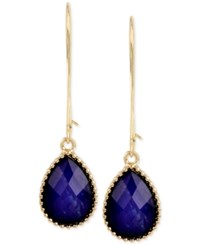Inc International Concepts M. Haskell For Inc Gold Tone Blue Teardrop Stone Wire Drop Earrings Only At Macy's