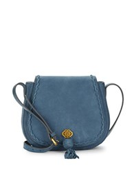 Nanette Lepore Santana Leather Saddle Bag Denim