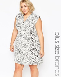 Carmakoma Plus Size Mallala Dress In Animal Print Yellowstone