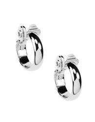 Anne Klein Silvertone Clip On Hoop Earrings