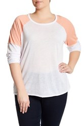 Melrose And Market Baseball Tee Plus Size White
