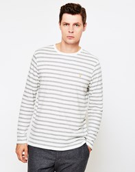 Farah Lennox Long Sleeve T Shirt Ecru Cream