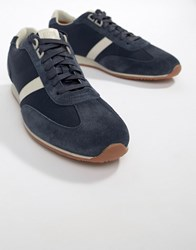 Boss Orland Mesh Trainer In Navy