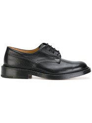 Tricker's Trickers Woodstock Shoes Calf Leather Leather Suede 9.5 Black