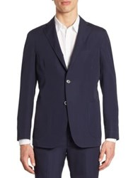 Saks Fifth Avenue Light Weight Cotton Blazer Midnight
