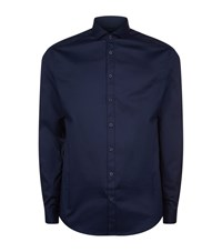 Tiger Of Sweden Denzel Stretch Cotton Slim Fit Shirt Male Navy