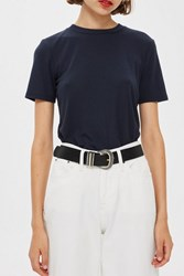 Topshop Western Buckle Jeans Belt Black