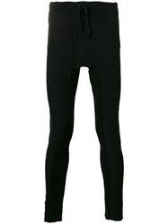 Cedric Jacquemyn Long Rib Decoup Leggings Men Cotton 48 Black