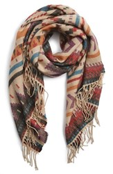 Junior Women's Capelli Of New York Geo Print Scarf