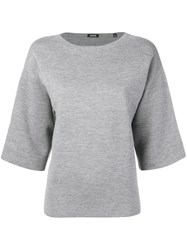 Aspesi Boxy Fit Knitted Top Grey