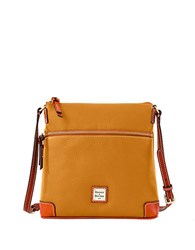 Dooney And Bourke Pebbled Leather Crossbody Bag Caramel
