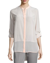 Elie Tahari Vivian Long Sleeve Blouse Natural