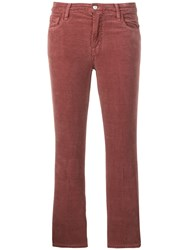 J Brand Cropped Trousers Red