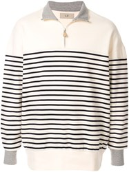 Loveless Striped Pullover White