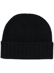 Pringle Of Scotland Scottish Knitted Hat Black