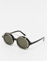 Han Kjobenhavn Sunglasses Doc Round Clip On Black