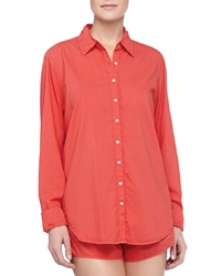 Xirena Poplin Cotton Sleep Shirt Poppy