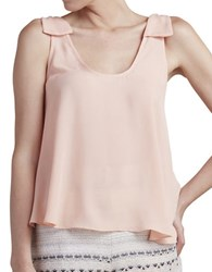Paper Crown Thyme Scoopneck Tank Top Peach