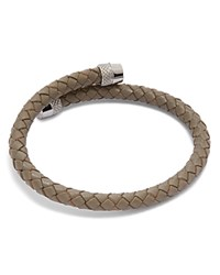 Ted Baker Scores Knuring Leather Bracelet Gray