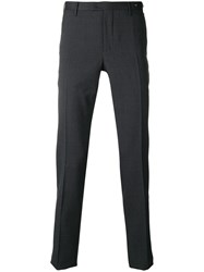 Pt01 Creased Slim Fit Trousers Grey