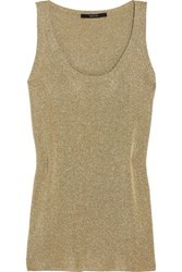 Gucci Metallic Knitted Tank Gold