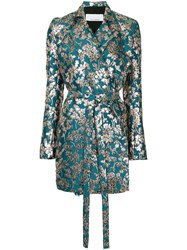 Kacey Devlin Floral Print Wrap Dress Green