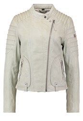 Gipsy Leather Jacket Chalk Mint