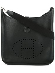 Hermes Vintage Evelyne Shoulder Bag Black