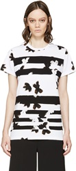 Marc By Marc Jacobs White Painted Flower Patchwork T Shirt