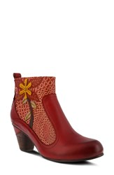 L'artiste Dramatic Boot Red Multi Leather