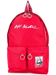 Off White Monalisa Backpack Red