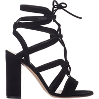Gianvito Rossi Strappy Lace Up Sandals Black