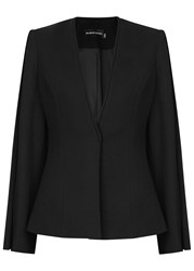Brandon Maxwell Black Flared Sleeve Jacket