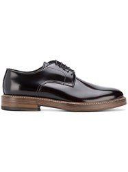 Dell'oglio Contrast Sole Derby Shoes Brown