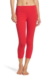 Zella Women's 'Live In' Crop Leggings Red Pepper