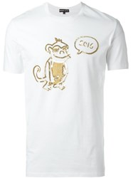 Markus Lupfer Sequin Monkey T Shirt White