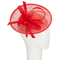 John Lewis Bea Disc And Quill Occasion Hat Red