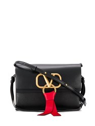 Valentino Garavani Small V Ring Shoulder Bag Black