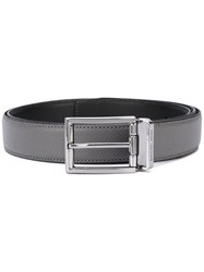 Michael Kors Classic Buckled Belt Men Leather One Size Grey