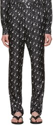 Dolce And Gabbana Black Silk Music Pajama Trousers