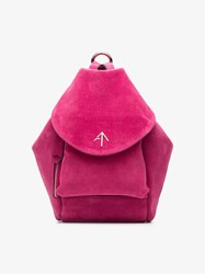Manu Atelier Fuchsia Fernweh Mini Suede Backpack Pink And Purple