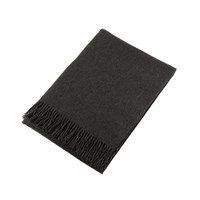 Johnstons Of Elgin Plain Cashmere Throw Charcoal