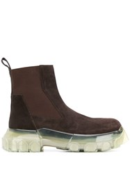 Rick Owens Chunky Chelsea Boots Brown