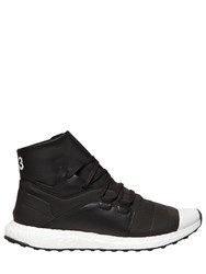 Y 3 Kozoko High Leather And Nylon Sneakers