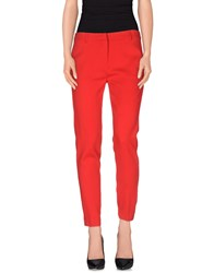 Space Style Concept Trousers Casual Trousers Women Red