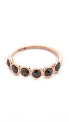 Blanca Monros Gomez Bezel Band Ring Rose Gold Black Diamond